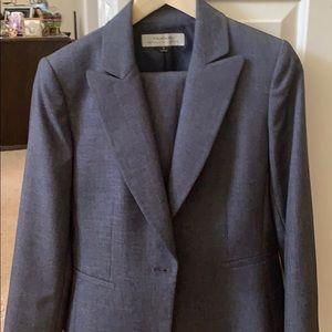 Tahari Suit blue weave classic